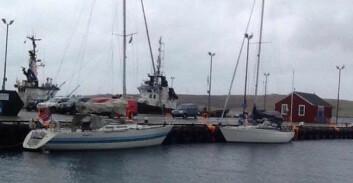 LERWICK: Båtene ankom kl 01.00 og 03.00 natt til lørdag.