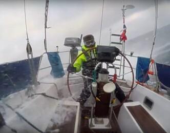 Første video fra Nordsjøkrysningen