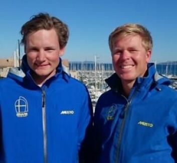 GODE: Marcus Anjemark og Carl P Sylvan er i verdenseliten i 49er, men fikk ikke delta i OL i Rio.