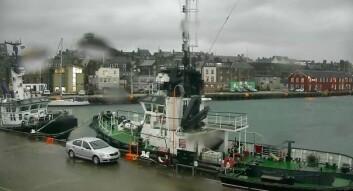 I HAVN: S/Y Elise i havn i Lerwick på Shetland.