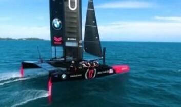 RASKEST: Oracle vant felst runder under testseilasen for foregikk med utviklingsbåtene på 45 fot.