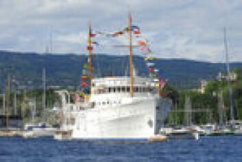 FOLKEGAVE: Kongeskipet ble kjøpt til den norske kongen for 1,5 millioner kroner.