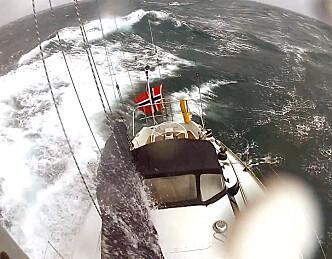 En smak av vinterseiling i Nordsjøen