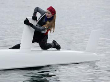 VÅR: Mild februarhelg lokket 47 seilere ut på vannet.