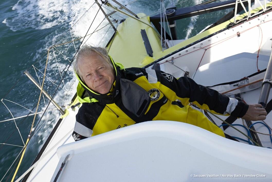 TOLMODIG: Pieter Heerema vil gå i mål i natt, 116 dager etter start.