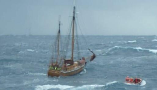 Reddet i Nordsjøen etter lekkasje