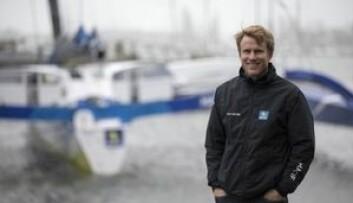 SJØSATT: Francois Gabart fikk sitt nye leketøy på vannet 8. mars.