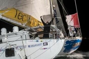 MÅL: Franskmannen var over målstreken natt til lørdag, men måtte vente til det ble lyst for å gå i havn.