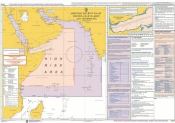 KART: Kartet viser området med høy risiko for pirater.