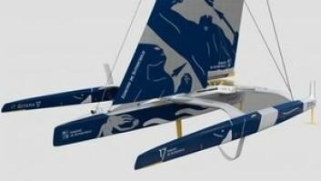 FOILER: Trimaranen arver teknologi utviklet for America\'s Cup, men denne skal brukes på havet.