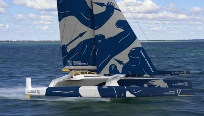 EKSTREM: «Maxi Edmond De Rothschild» kan bli første båt over målstreken.