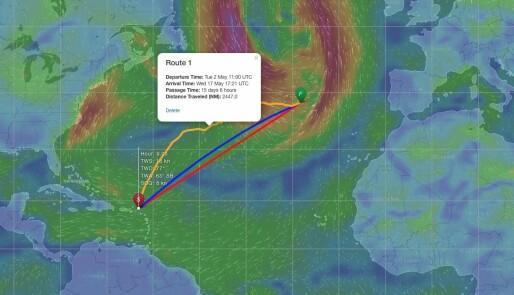 Klare for returseilas over Atlanterhavet