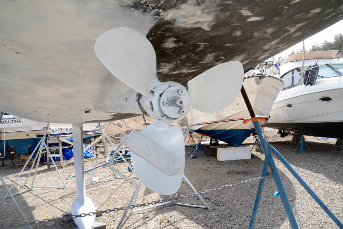 SNILL: Fordi bunnstofet ikke innholder metall kan det brukes på propell, drev og rorlagre.