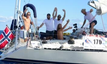 BERMUDA: Gutta på «Solskinn» har startet hjemreisen, og ligger på Bermuda.
