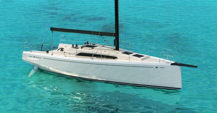 BAUGSPRYD: Grand Soleil 34 blir levert standard med aluminiumsmast.