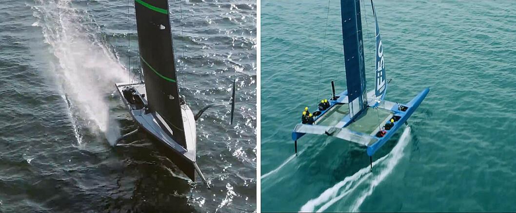 STORT: Båttypen brukt i forrige America's Cup etableres nå som en ny klasse, og vil konkurrere om penger, seilere og oppmerksomhet fra America's Cup.