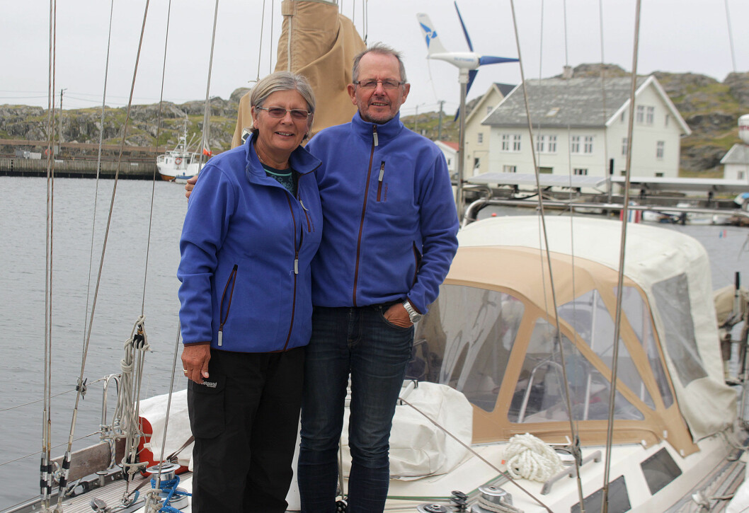 HJEMME: Irene og Svein Mathisen tilbake i Randaberg, Stavanger i sommer. Båten var ute i fire år.