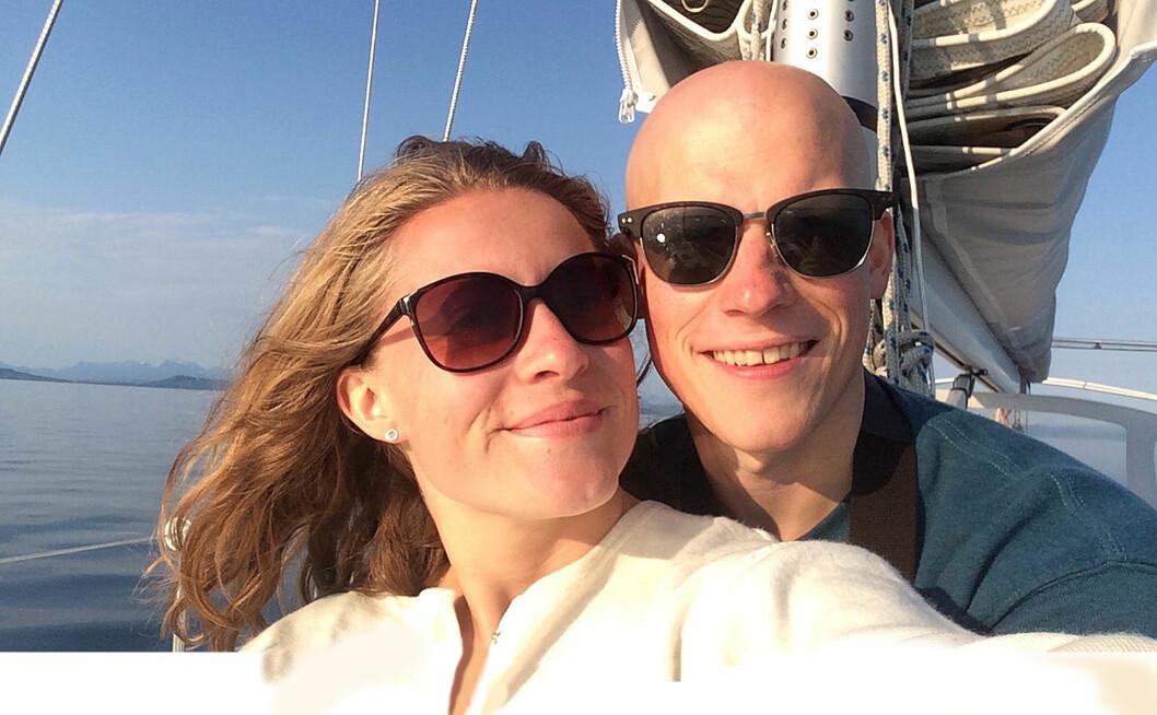 SØT MUSIKK: Charlotte Bratberg og Andreas Lundbø legger ut på langtur etter å truffet hverandre på Tinder.