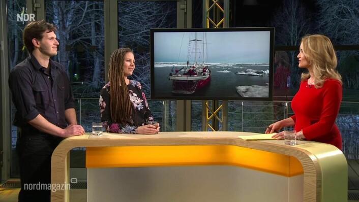TV: Charlotte Klund og Paul Lübbe har også holdt foredrag i Tyskland hvor de også har vært på TV.