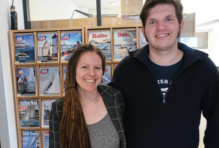 LANGTURSEILERE: Linn Charlotte Klund og Paul Lübbe har seilt siden 2012. Deres Hero 101 ligger nå på Papua Ny-Guinea.