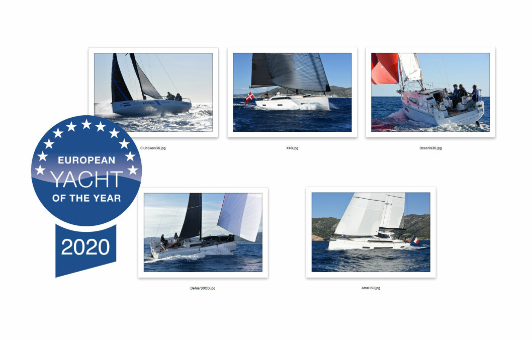 VINNERE: ClubSwan36, X4.0, Oceanis 30.1, Dehler 30OD og Amel 60 fikk pris i Dusseldorf.