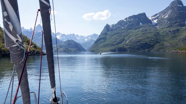 NORD: Norskekysten lokker også, her inn Trollfjorden i Lofoten.