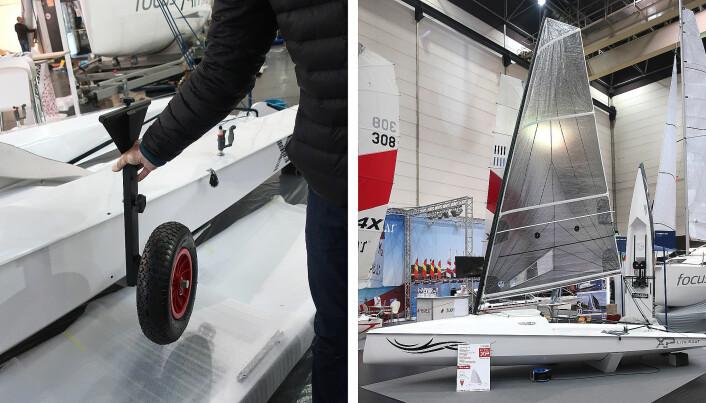 SMART: LiteXP er en robåt med seil. Den har også hjul som kan monteres på skrogsiden. Det gjør det enkelt å få båten opp på land.