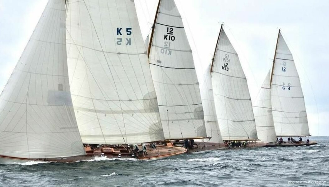 Vanity V (K-5), Trivia (K-10), Wings (K-15) og Sphinx (G-4) i 2019 12mR EM, Marstrand. Foto: photo: Kim Weckström