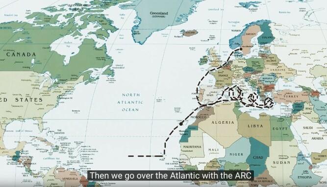 RUTE: Etter noen måneder i Middelhavet seiler gutta med ARc til Karibia, og så videre vestover med World ARC.