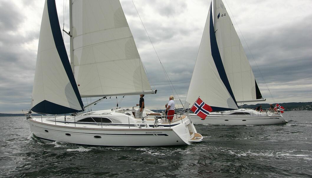 VISION: Med over 35 prosent av båtens vekt i blykjølen og en høy rigg blir det fart.
