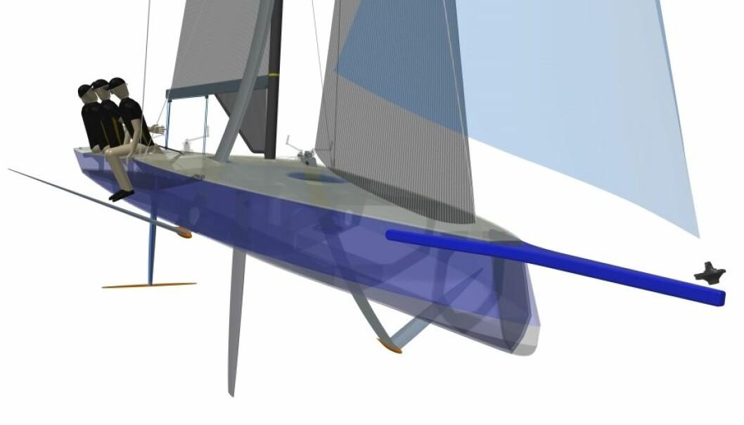 AC9F: Den nye båten får et enklere foilesystem enn AC75. Denne båten har også en senterbord.