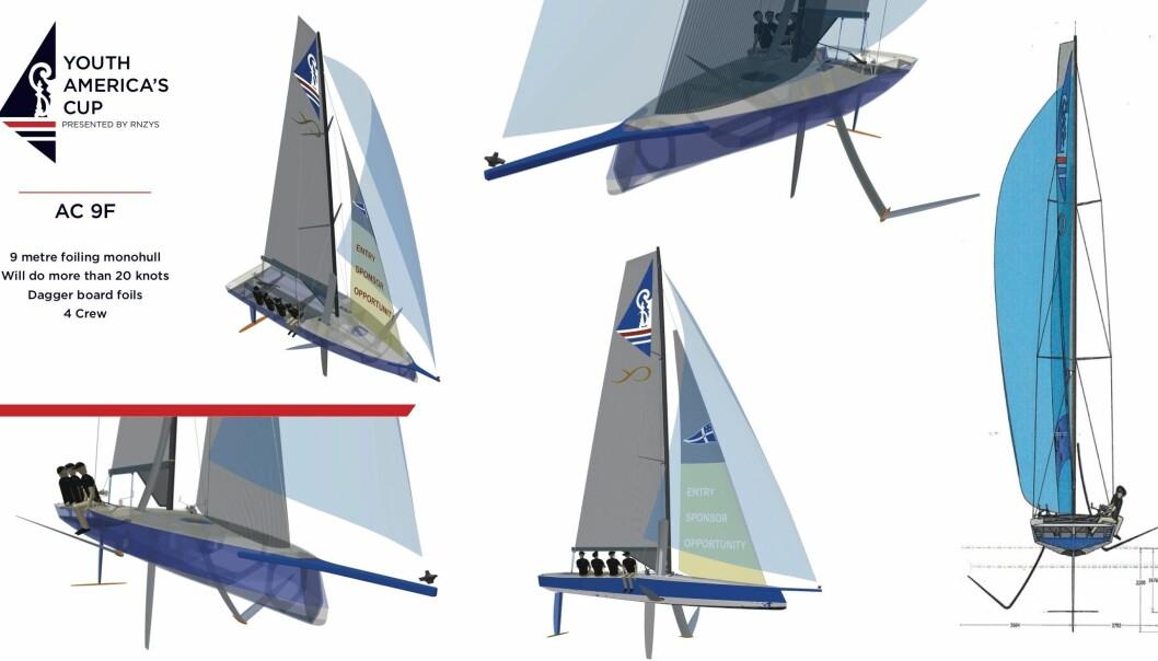 UNGDOM: Også de unge skal seile America's Cup. AC9F blir en 30 fots enskrogsbåt med mannskap til fire.