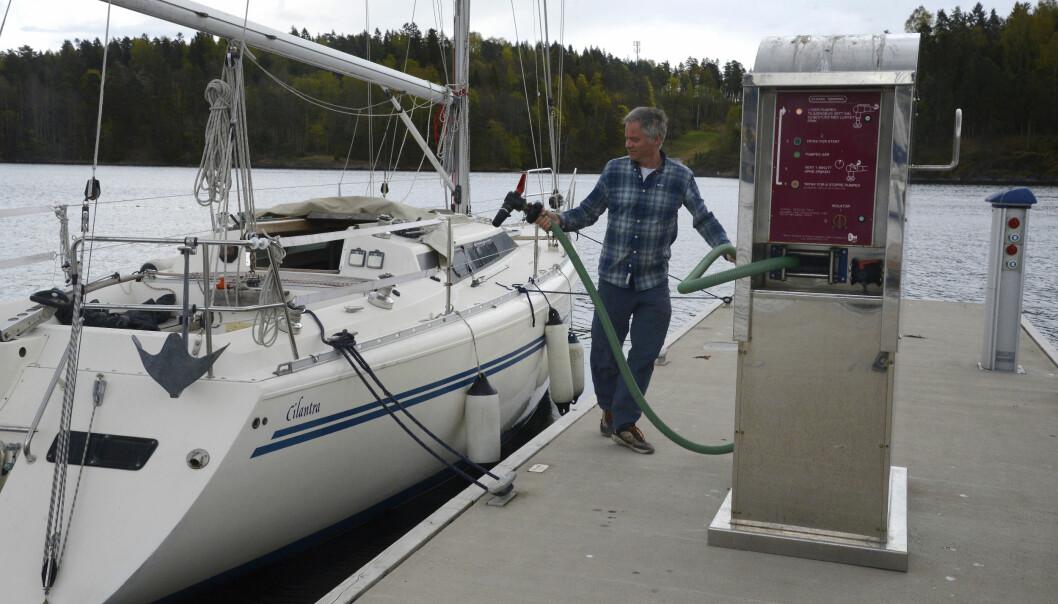 EKSTRA TIL INNHOLD: Det er raskt og enkelt å tømme båtens septik.