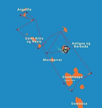 KARIBIA: RORC Caribbean 600 er en regatta på 600 nm med mye slør mellom de Karibiske øyer.