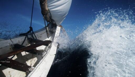 17 timer i kano på havet