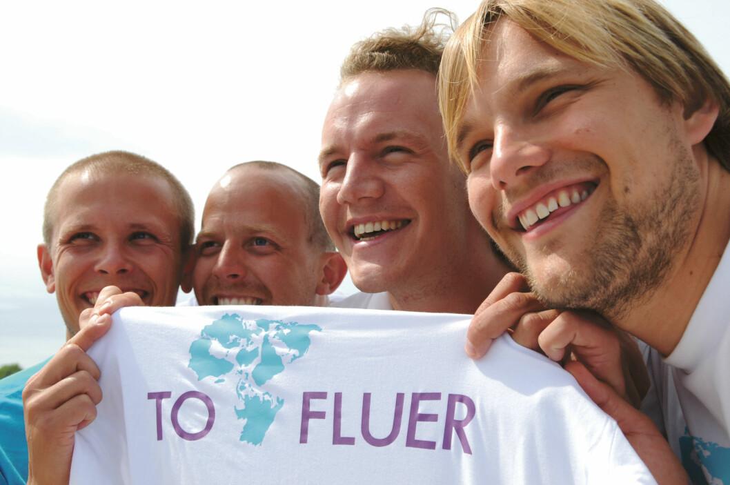 GLEDER SEG: Kyrre Lind-Isaksen, Otto Hildeng, Marcus Devold Soknes og Ketil Løkke ser frem til en spennende og utfordrende seilas.