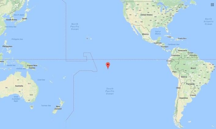 FREMME: Den norske båten nådde frem til Hiva Oa Island, fransk Polynesia i Stillehavet.