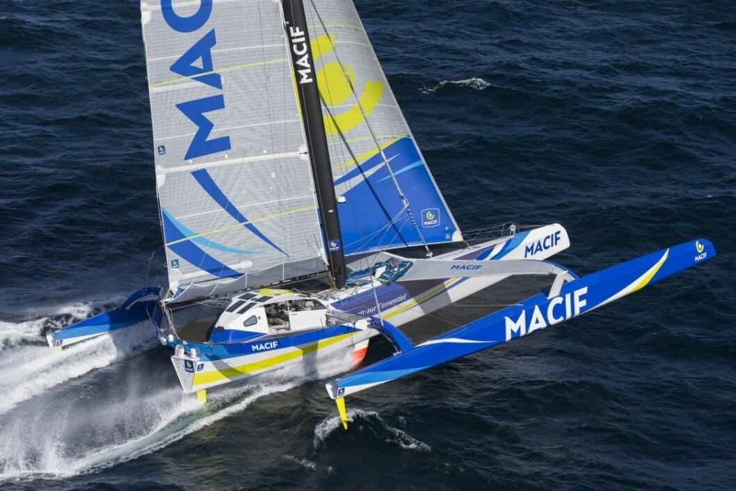 SOLO: Macif har seilt raskere til Kapp det gode håp, enn rekorden med fullt mannskap.