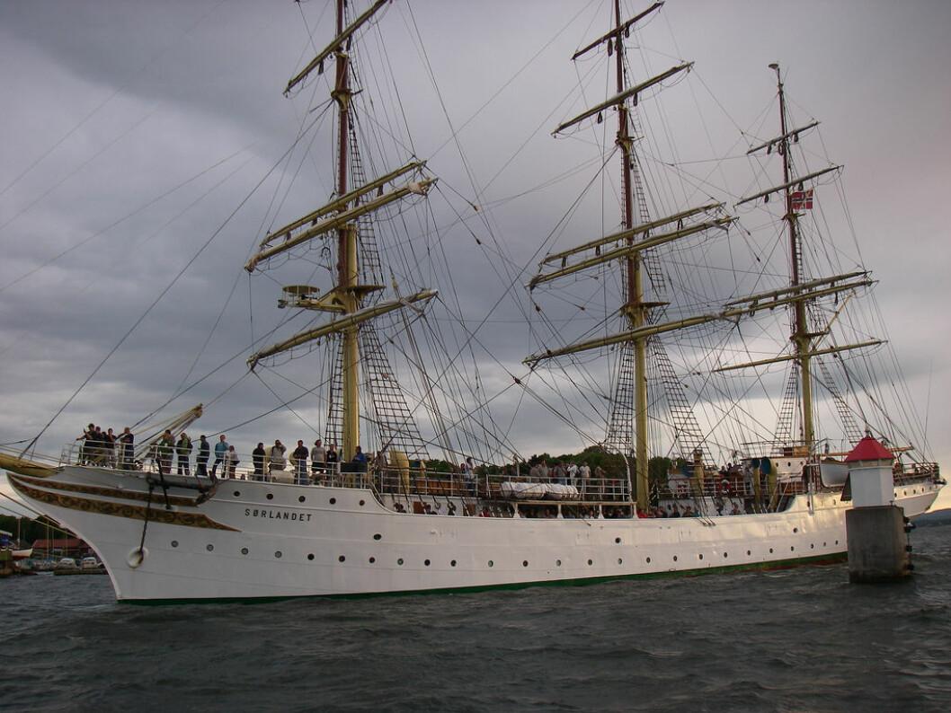 SØRLANDET: David Weisser tilbringer et skoleår om bord i seilskuta «Sørlandet».