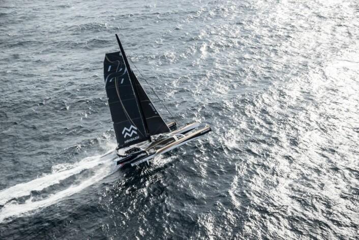 REKORD: Spindrift kan bli den første båten under 40 døgn rundt jorda.