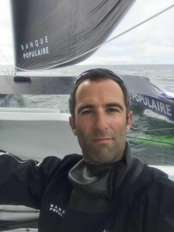 SKIPPER: Armel Le Cléac?h havnet i vannet under den dramatiske kullseilingen