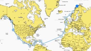 NORD: Opal Mariell har ambisjoner om å seile til Alaska.
