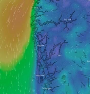 PROGNOSE: Vinden holder seg fra nord, men vil moderere seg onsdag  6. juni.