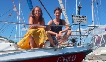 LANGTUR: Martin Borge Bull og Line Langaas Berg har langt ut på jordomseiling i en 36-fots båt fra 1973.