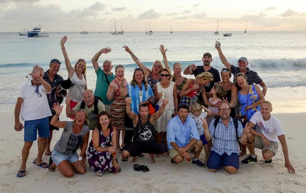 HAPPY: Deltagerne i Viking Exploresr 2018 fremme i Karibia.