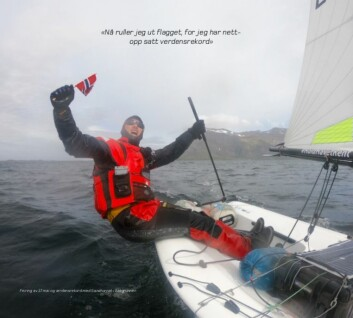 Verdensrekord: 800 km i enmannsjolle