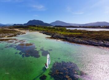 Sandøya ved Brønnøysund, et av de mange utsøkte fotos fra drone
