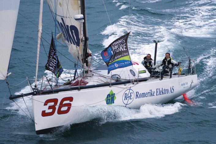ERFARING: Simen Løvgren har hentet mye av sin erfaring på havet i store seilaser sammen med Rune Aasberg i Class 40-ene «Solo» og «Solo2».