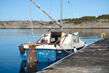SVERIGE: Turen gikk til flytebrygga på marinaen på Resö.