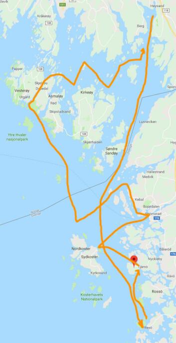 TID: Paul Lübbes mål var å gjøre tilbaketuren så opplevelsesrik som mulig med dagene han hadde satt av for å seile langt.
